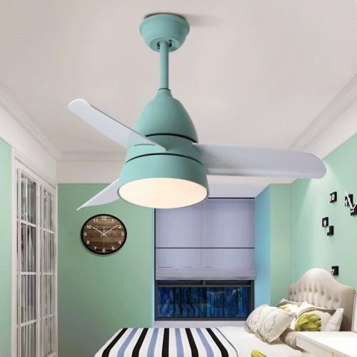 Energiespar Deckenventilator  mit dimmbarer LED Beleuchtung, 80cm, inklusive Fernbedienung
