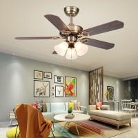 Modern Deckenventilator mit beleuchtung  42  Messing Farbe/ 3-flammig/Innenbeleuchtung