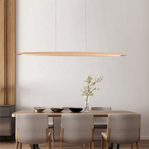 LED Pendelleuchte Modern design Hängelampe Hängeleuchte aus Holz Pendellampe Dimmbar Pendelleuchten maximum 150 cm höhenverstellbar Kronleuchter