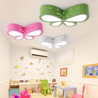 Kinderzimmer-Deckenleuchte - Schlafzimmerlampe - LED Creative Butterfly Lighting - Kinderzimmer-Mädchen Princess Room Lighting