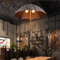 Industrie Retro Kreativ Regenschirm Leuchter, Restaurant Ausstellungshalle Bar Café Eisenkunst Beleuchtung