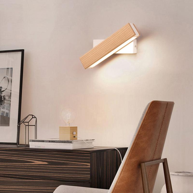 Neue chinesische Massivholz Wand Lampe Schlafzimmer Einfache Persönlichkeit Kreative Beleuchtung Möbel & Wohnaccessoires