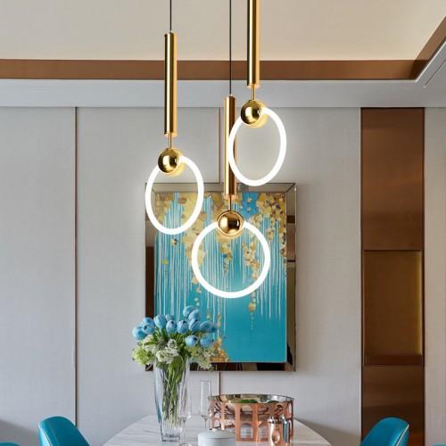 Modern Fashion Eisen Glas Pendelleuchte (Gold)