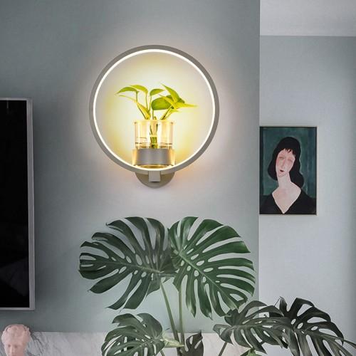Kreative Pflanzenwandleuchte, moderne, minimalistische nordische Wandleuchte für schmiedeeiserne Wände / Schlafzimmer / Nacht / Balkon / Wandleuchte