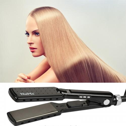 Profi Glätteisen Haarglätter Ionen Technologie mit extra breiten Platten und digitalem LCD-Display Dual Spannung schnelles Haarstyling