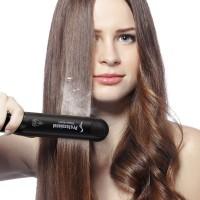 Professioneller Multifunktions Keramik Spray Dampf Haarglätter Glätteisen Lockenwickler Haar Salon Dampfstyler mit Handschuh und Eurostecker