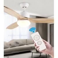 Energiespar Deckenventilator mit dimmbarer LED Beleuchtung und Fernbedienung, 122cm, sehr leise [Energieklasse A+]