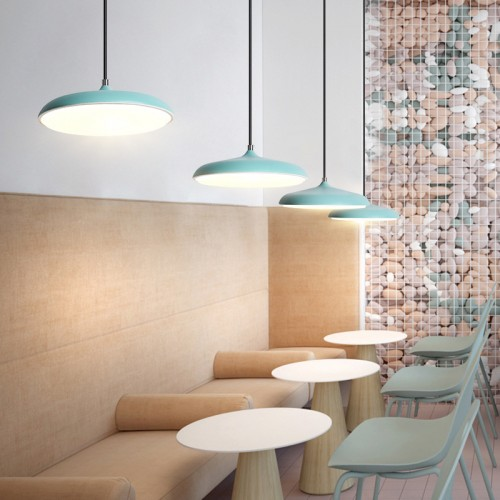 UFO LED Moderne Pendelleuchte Lampenschirm Hängeleuchte  LED Deckenleuchte Beleuchtung Heimspiel für Dinning Wohnzimmer Schlafzimmer (Weiß) [Energieklasse A+]