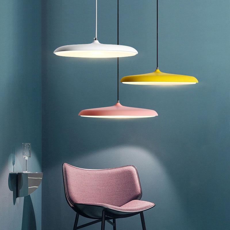 UFO LED Moderne Pendelleuchte Lampenschirm Hängeleuchte LED Deckenleuchte  Beleuchtung Heimspiel für Dinning Wohnzimmer Schlafzimmer (Weiß) ...