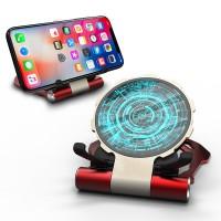 Drahtloses Ladegerät für Mobiltelefone 10W Drahtlose Schnellladung Rutschfeste Metallhalterung Gehärtetes Glas