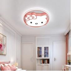 kitty Deckenleuchte LED Ultradünne Dimmbar mit Fernbedienung - Jungen Und Mädchen Cartoon Lampe 48CM 56W Deckenlampe für Kindergarten Küche Schlafzimmer(Dimmbar)