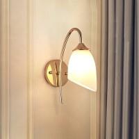 Wandleuchte, Wandlampe Innen  (Retro, Vintage, Antik) in Weiß aus Glas u.a. für Wohnzimmer & Esszimmer Wandstrahler, Wandbeleuchtung Schlafzimmer