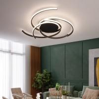 LED Deckenleuchte Dimmbar Mit Fernbedienung Wohnzimmer Küche Kronleuchter Moderne Acrylspirale Blumenform Design Deckenleuchte,White