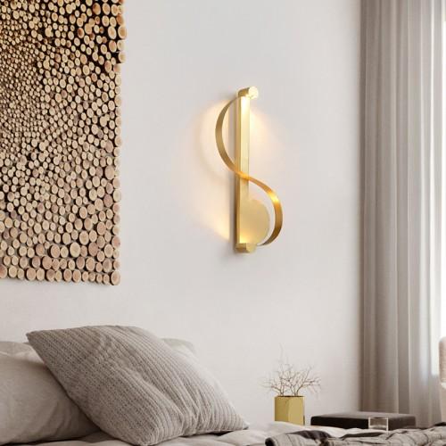 Wandleuchte Alle Kupfer gelb kreative Note Wandleuchte personalisiertes Design Hotel/Wohnzimmer/Schlafzimmer/Flur/Treppe Lampe