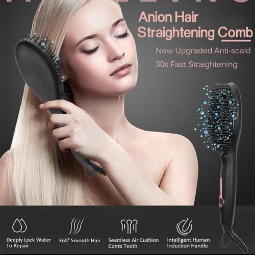 CHJPRO Negative Ionen Glattes Haar Kamm Anti-Verbrühung Massage Zähne Glattes Haar Turmalin Automatische elektrische Schiene