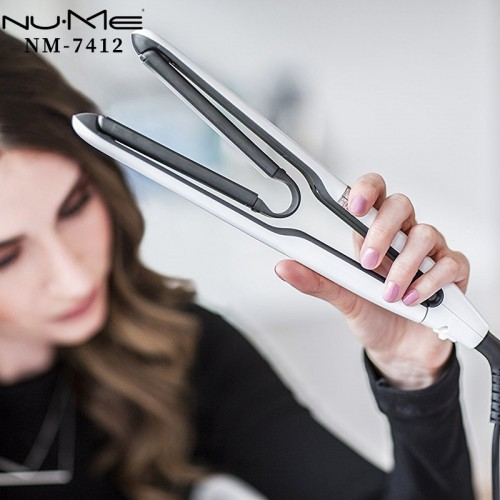 NUME Aufgehängtes Luftbrett Oberfläche gerade Doppelzweckschiene 3D Haarglätter schlägt Haarlockenwickler