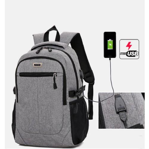 yiaxing Oxford Tuch Studententasche USB-Ladeanschluss große Kapazität Computertasche Geschäftsreiserucksack passt 33.7cm Laptop