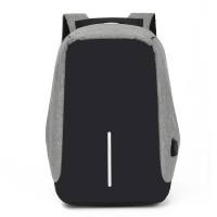 Anti-Diebstahl-USB-Rucksack - Grau