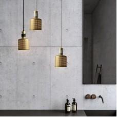 Gepiercte Pendelleuchte orientalische Lampe Metallform Hängelampe Retro verstellbare antike Messingfarbe Hohle Deckenlampe E27 für Cafe Bar Esstisch Foyer Loft etc. [Energieklasse A +++]