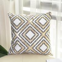 """Sofa-Auto Bronzing-Kissen des einfachen geometrischen Modewohnzimmers,18"""" x 18"""""""