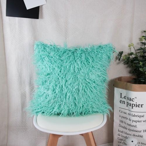 Neue Luxus Serie Stil Hellblau Kunstpelz Dekokissen Kissen für Sofa Schlafzimmer Auto 18x18 In