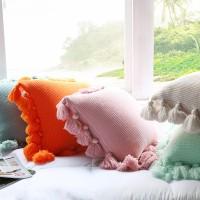 Perfekt dekorierte Knit Kissen Laterne Ball Kissen Kissen zu werfen