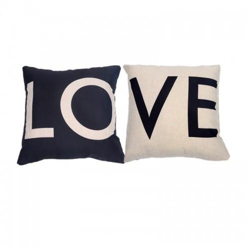 Nordic schwarz und weiß LIEBE Kissen Valentinstag Geschenk Baumwolle Kissen Sofakissen