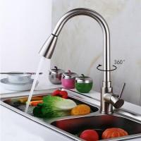 Küchenspüle voller Kupfer Wasserhahn Kupfer ausziehbare Küche Teller heißen und kalten Wasserhahn
