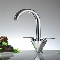 Contemporary Kitchen Dual Lever 360 ° Schwenkauslauf Waschbecken Waschtischarmatur -chrom