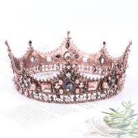 Barock Prinzessin-Krone für Damen, für Hochzeiten, Abschlussbälle, als Brautschmuck, im Vintage-Stil