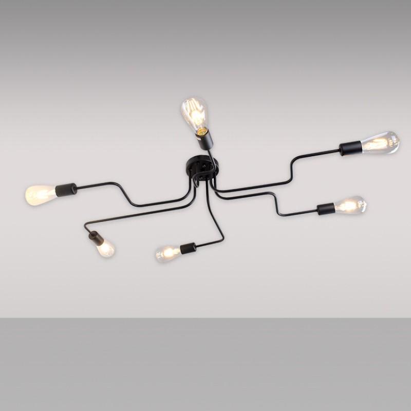 8 Lichter Metall Unterputz Deckenleuchte Moderne Schwarze Stahl Kunst Mitte  Jahrhundert Vintage Sputnik Kronleuchter Wohnzimmer Esszimmer Schlafzimmer  Küche ...