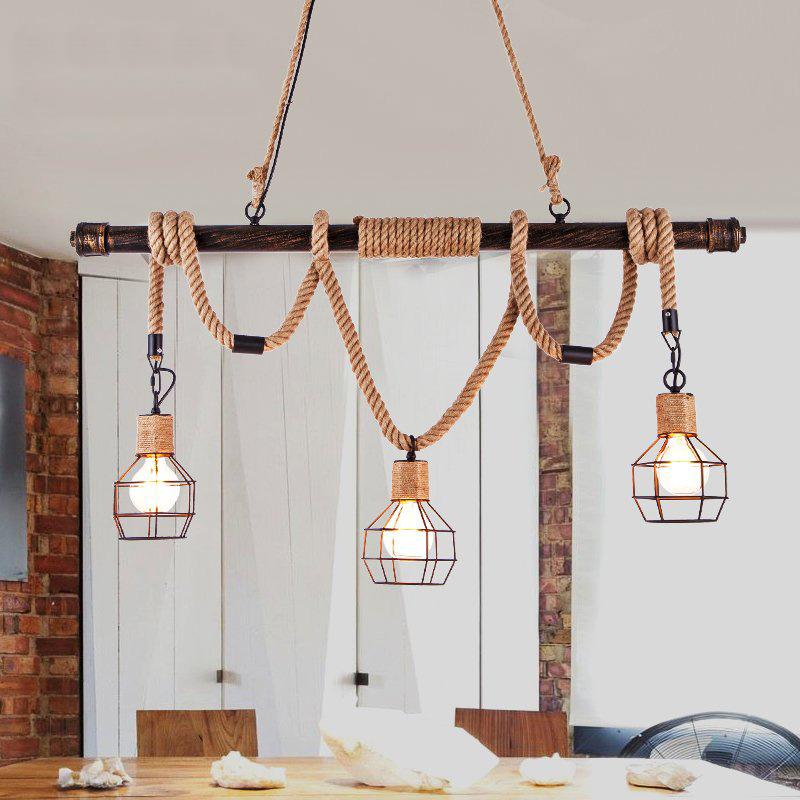 Vintage Seil Industrielampe Kronleuchter Deckenleuchten Led