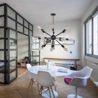 Sputnik Kronleuchter Modern Pendelleuchte Hängelampe E27 Lampenfassung Schwarz Metall für Esszimmer Zimmer Wohnzimmer Küche Restaurant