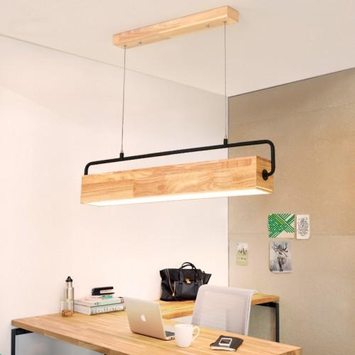 LED Pendelleuchte aus Holz Hängelleuchte esstisch Pendellampe Hängellampe Küche/Wohnzimmer/Büro/cafe/Arbeitszimmer
