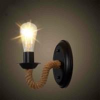 Land Retro Industrie Wind Schmiedeeisen Seil Wandleuchte E27 (keine Glühbirne)