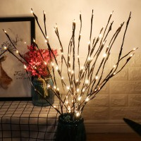 3 paket warmweiß beleuchtete twig zweige 60 led-leuchten künstliche baum willow zweige lampe für urlaub party dekoration dekor batteriebetrieb
