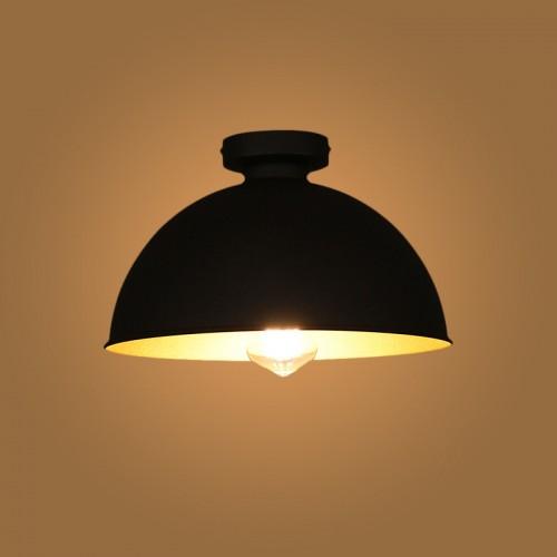 Design Industrial Vintage Deckenleuchte Φ 31cm. Schwarz für Wohnzimmer Esszimmer Restaurant