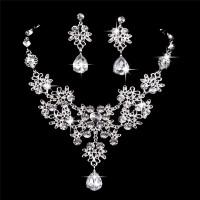 Brautschmuck Wassertropfen Halskette und Ohrringe Schmuck Set Geschenke passen mit Brautkleid