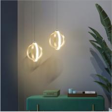Nordischer moderner Nachttischleuchter einfache Modelampen kreative Persönlichkeit Restaurantlampe Bartischlampe Kunstkreisbeleuchtung