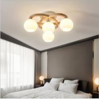 Log LED Schlafzimmerlampe einfache moderne nordische Massivholz-Kunst-Deckenlampe kreative Persönlichkeits-Studienlampe