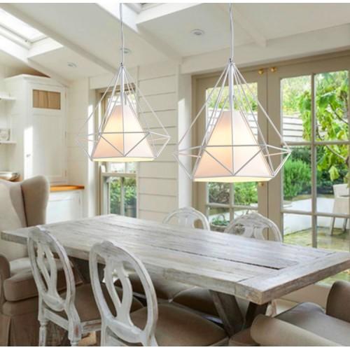 Eisen kronleuchter LED-Pyramide-Vogelkäfig-einfacher Kreativ-Schlafzimmer-Einzelscheinwerfer(Ohne Glühbirne)