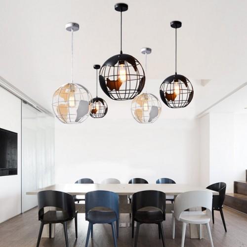 American Village - Kreativ restaurant - Iron Chandelier - Fashion Globe Chandelier - Showroom Single Head Kronleuchter(Ohne Glühbirne)
