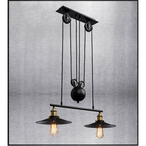 Amerikanischer industrieller Retro Wind Kronleuchter - Kreative Schmiedeeisenbeleuchtung für Wohn- und Esszimmer (ohne Glühbirne)