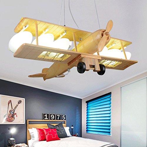 Massivholz Fernbedienung Flugzeug Kronleuchter Kreative Kinderzimmer ...