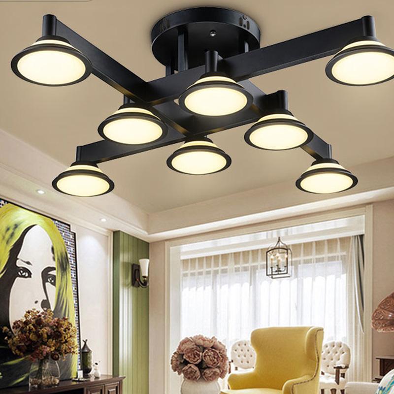 Retro Design Deckenlampe LED Deckenleuchte Industrielampe Innen Decor Decke  Beleuchtung Vintage Metall Deckenstrahler Kronleuchter Schlafzimmer ...