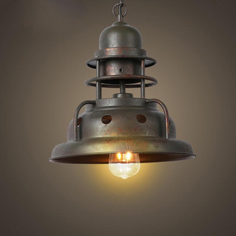Pendel-Leuchte Decken-Leuchte aus Metall E27 Hänge-Leuchte Vintage  Industrieleuchte Wohnzimmerlampe Modern Wohnzimmer mit Kabel Vintagelampe