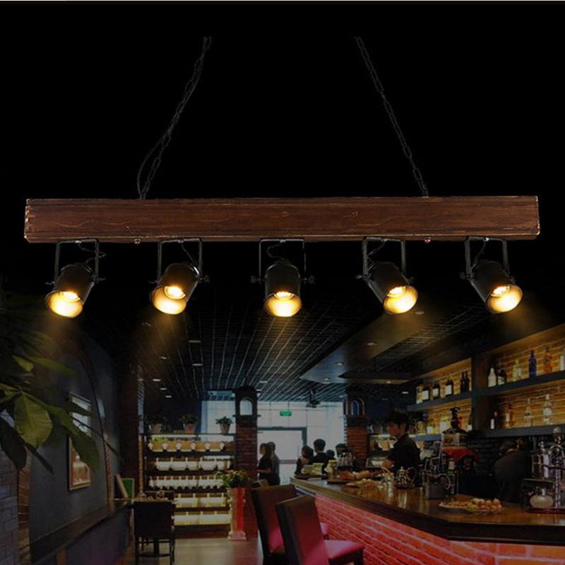 Vintage Deckenlampe Holz Pendelleuchte Hangende Beleuchtung Holz